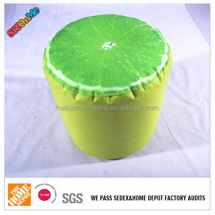 El color de la cal taburete silla del bolso de haba de alibaba china mercado