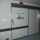 Popular Steel or Aluminum Door For Hospital Entry or Exit With Glass Window
