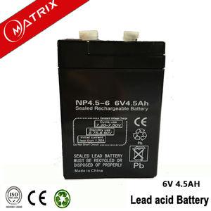 Usine vente directe L'océan MSDS 6v4. 5ah batterie pour système solaire