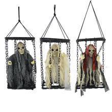 Haunted House Grim Reaper Horror Props Door Decor led  Halloween Hanging Ghost