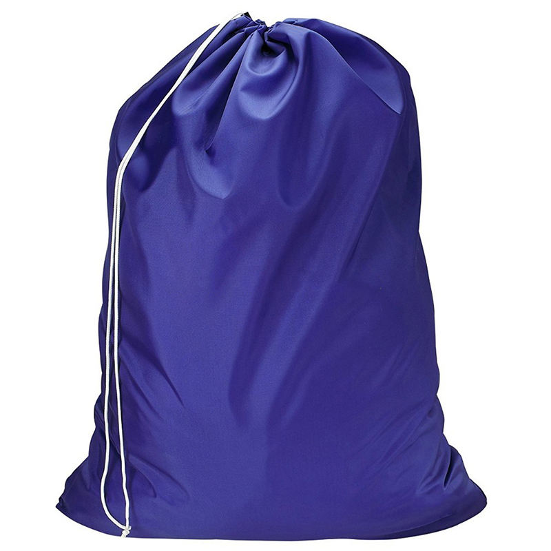 Wholesale colors cheap large polyester wash drawstring laundry bag