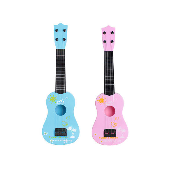 Plastic Toy Guitar For Kids Musical Instrument Pink and Blue mixed