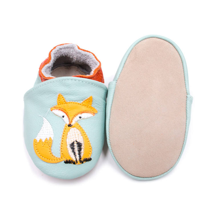 Genuine Leather Baby Shoes Soft Sole Cartoon Fox Animal Baby Prewalkers Shoes Baby Boys Girls Toddler Shoes Drop Shipping