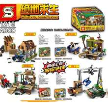 Playerunknown's Battle Set Sell Building Blocks Bricks Asemmble Compatible Learning Kids Toys  SY1216