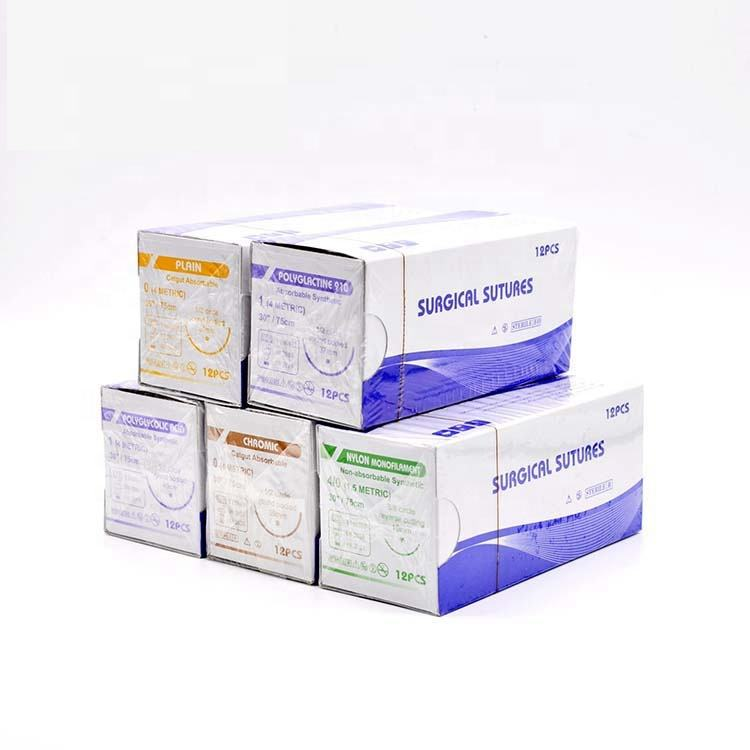 Absorbable Polyglactin 910 Surgical Sutures Usp Sizes