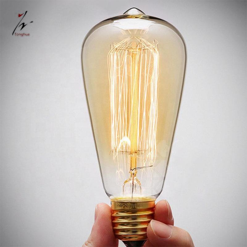 Decoratie Vintage <span class=keywords><strong>Edison</strong></span> Gloeilamp ST64 E27 Filament Lamp 220 v 40 w