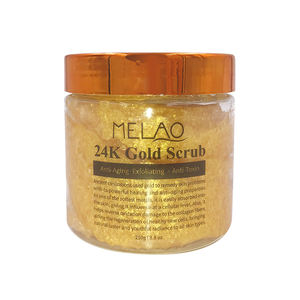 Private Label Natural Organic Anti Aging Body and Face 24K Gold Body Scrub