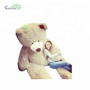 Wholesale custom 80cm-340cm funny cute brown skin stuffed plush big large giant teddy bear gift toy factory china