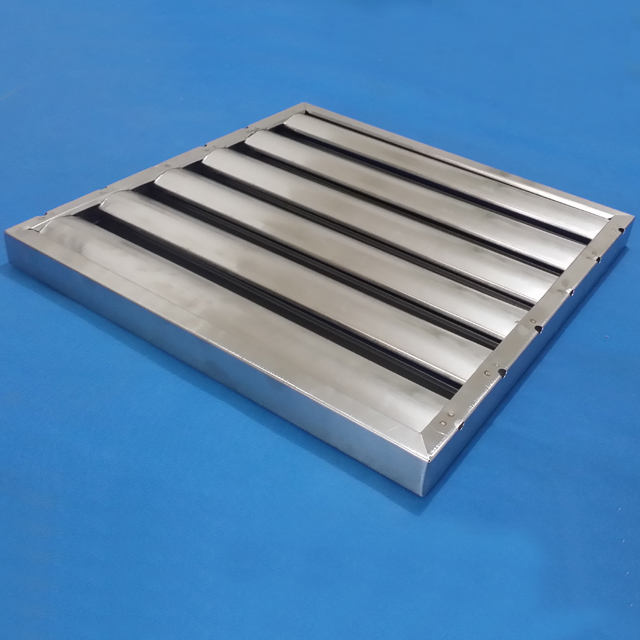 stainless steel restaurant exhaust hood grease baffle filter