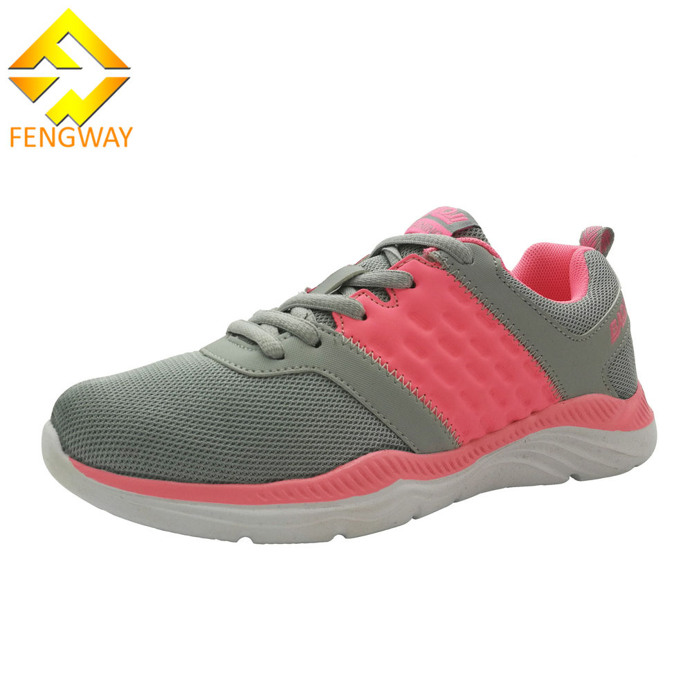 Multiple color cute mesh upper women running shoes