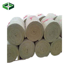 Fireproof Soundproof Rock Wool Roll Thermal Insulation Rock Wool Blanket for Building Material
