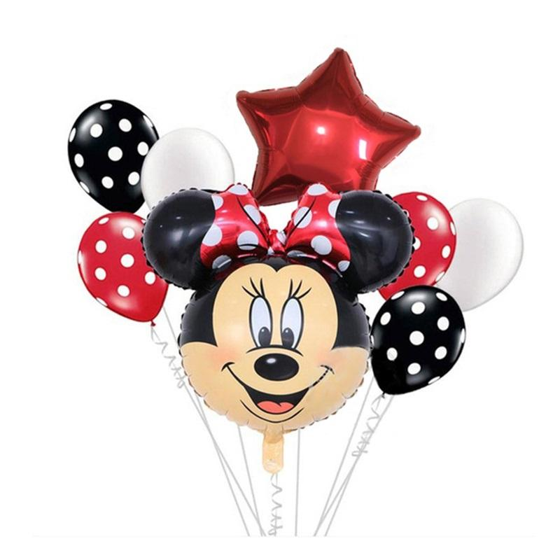 Mini Mickey Mouse balloons with aluminum foil children's toys gifts