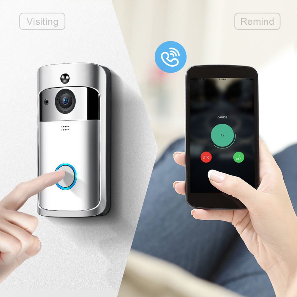 2018 Home Wireless Door Bell 720P Camera Smart WIFI Video Doorbell For Apartments