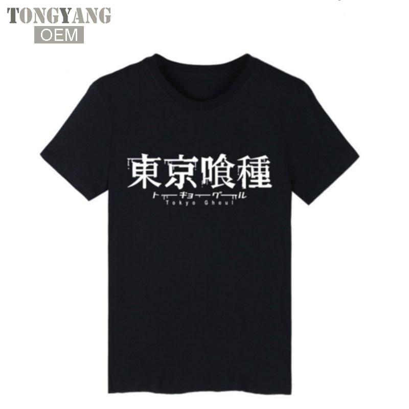 TONGYANG Tokyo Ghoul Anime Kaneki Ken Long T-shirt Men Hip Hop Short Sleeve T Shirts and Mens TShirts Summer Punk Band Tee