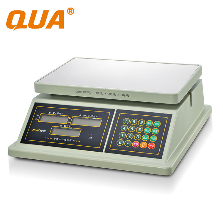QUA 30KG Household/Commercial Digital Electronic Waterproof Weighing Scale
