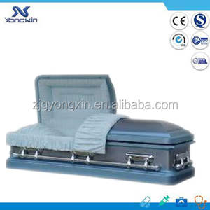 Burial best funeral steel metal caskets coffins for sale YXZ-1821