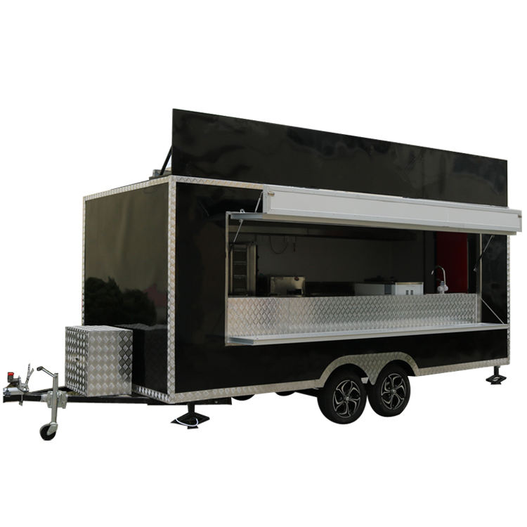 Wholesale Price Mobile Hotdog Food Trucks Sale Mobile Ice Cream Food Truck Trailer Crepe Food Cart For Sale