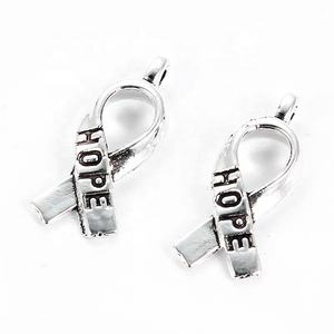 White K Ribbon 와 Hope Letters 대 한 손 Made Necklace Bracelets Fashion Jewelry Accessories