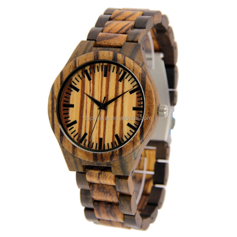 2017 New Wooden Watch Natural Wood Face Watch Customize Logo
