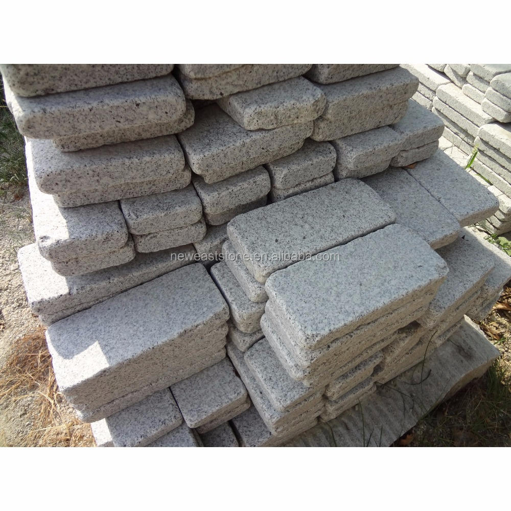 tumbled light grey G603 granite driveway paving stone prices