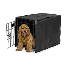 22 24 30 36 42 48 inch Dog Crate Cover , Black Polyester Crate Cover Stylish Geometric Pattern Crate Covers
