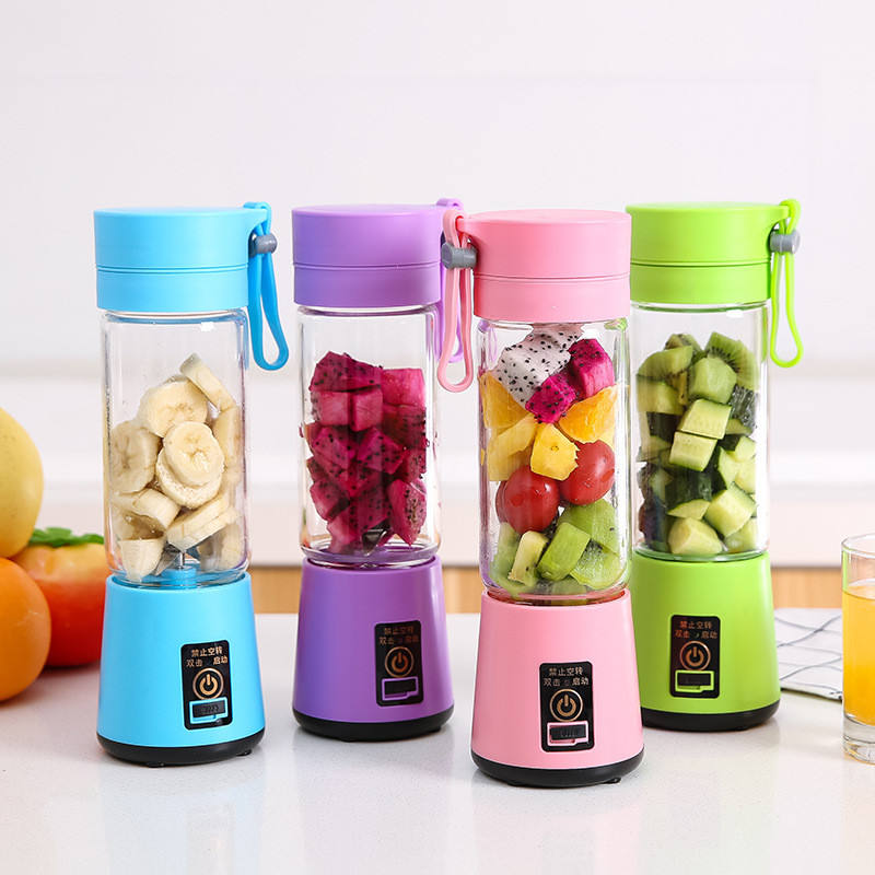 Draagbare elektrische sap cup multifunctionele mini Juicer USB blender