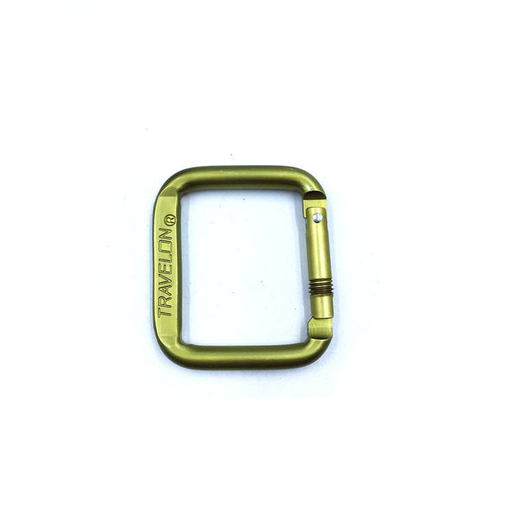 Outdoor square mountaineering buckle hanging car key chain buckle safety carabiner aluminum clip hook