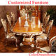 high quality hardwood Royal furniture dining room furniture long table with chair