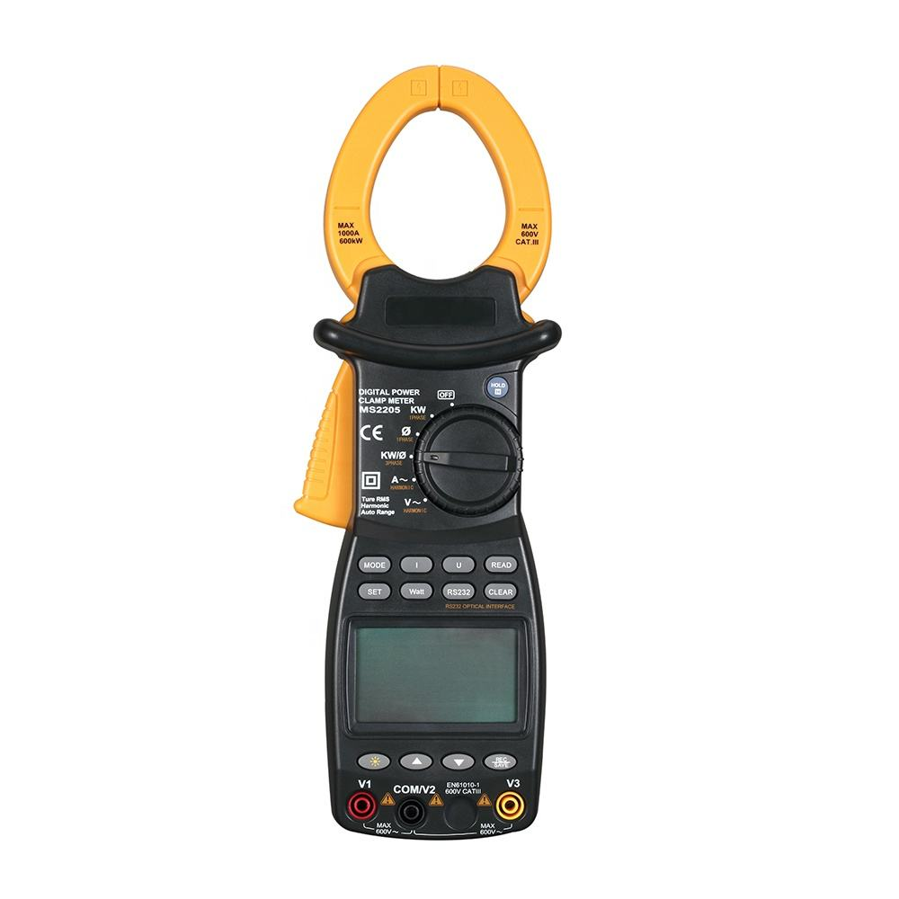 data logger funtion 6000 counts harmonic power factor clamp meter PM2205 with RS232 and true RMS