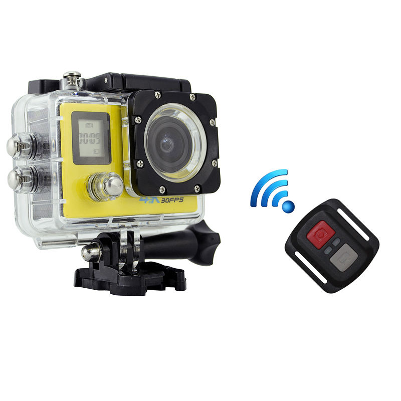 Dual display 4K WiFi Action Camera with Remote controller, similar as Go Pro HERO4