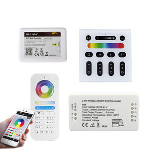 WIFI LED Controller RGB RGBW CCT 2.4G Wireless Touch Panel RF Remote 4/6/8 Zona Dinding Dipasang Telepon APP Control untuk Strip