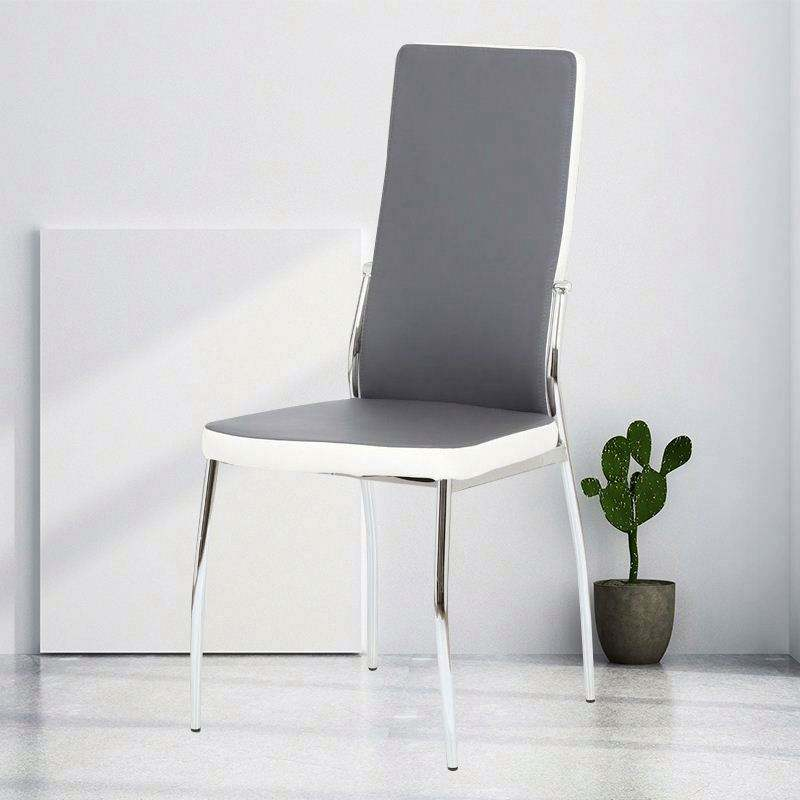 High Quality And Cheap price Wholesale Silver pu/pvc/Leather Dining Chair
