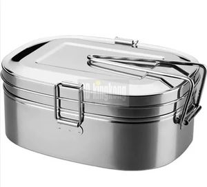 China factory) 저 (low) price 2 in 1 Oval shape 2 칸 stainless steel metal 도시락 lunch box 와 Lock 데려 갈 away 식품 상자