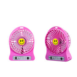 Factory price mini usb portable led light rechargeable fan with customized design.