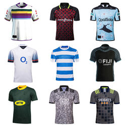 Custom new design high quality men's team sport sublimated rugby shirts team wear jersey