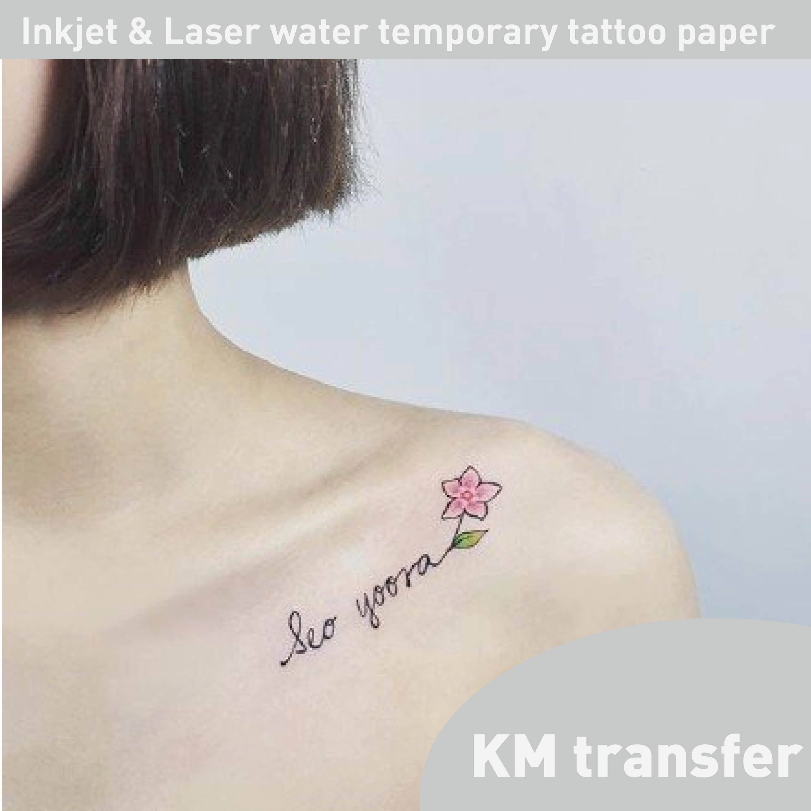 Inkjet & Laser skin use home creative arts Water slide temporary tattoo paper inkjet