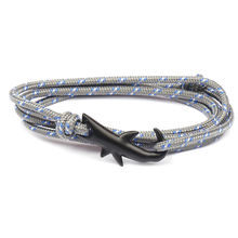 Ocean Shark Rope Bracelet For Women Men Handmade Survival Bracelet Sport Camping Parachute Cord Anchor Bracelet (KB8104)
