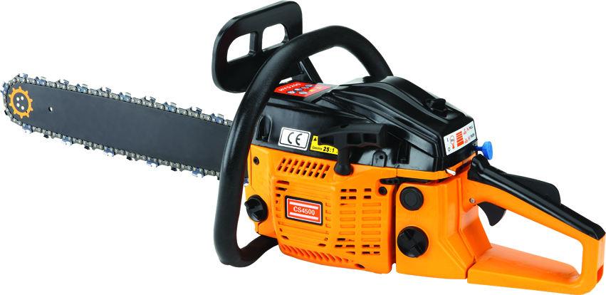 Sıcak kaliteli güç chiain 4500 chainsaw için gaz powered zincir testere testere 4500