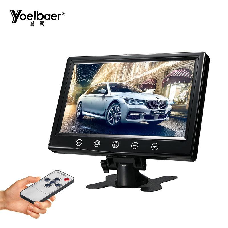 Низкая цена подголовник автомобиля монитор 9 дюймов DVD видео плеер 9 дюймов монитор с сенсорной кнопки