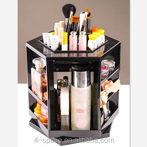 Plastic Tafelblad 360 Graden Spinning Cosmetica Organizer Display Box Perspex Make Stand