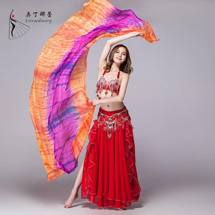 wholesale belly dance real silk veil