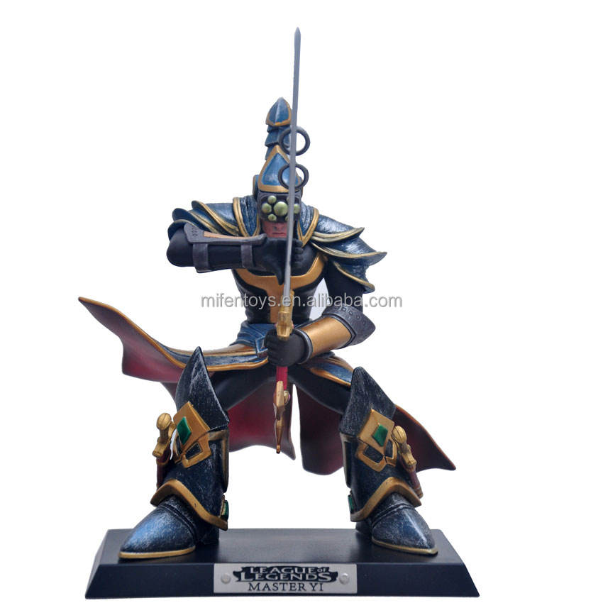 League Of Legends Master Yi De Wuju Bladesman Action Figure Stand Anime Body
