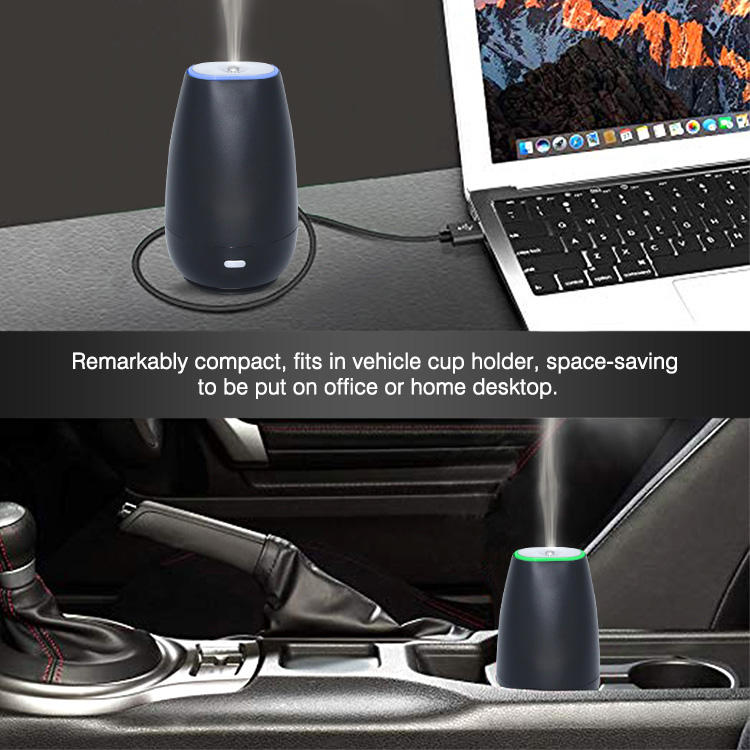Car Diffuser SOICARE Leakproof Portable Mini Aromatherapy Ultrasonic Essential Oil Aroma USB Car Diffuser