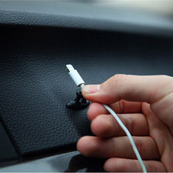Car Charger Line Clasp Clamp Headphone/USB Cable Car Clip