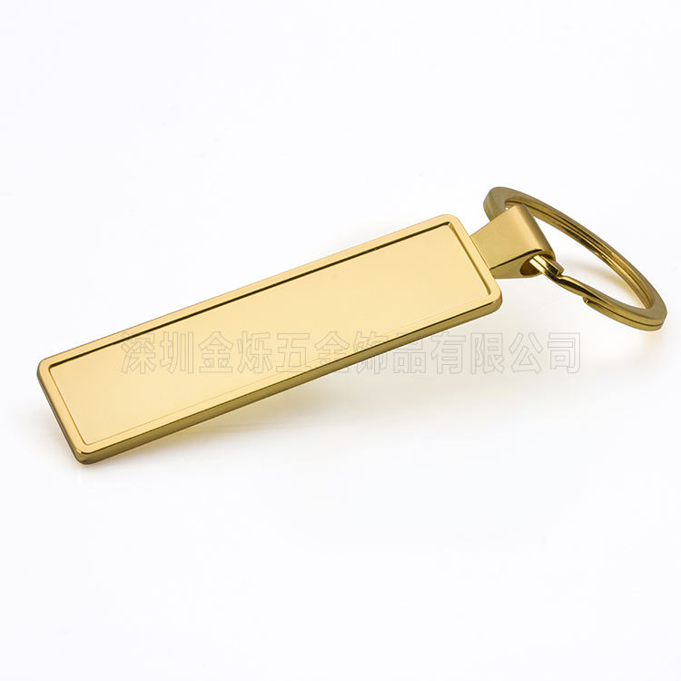 Factory Wholesale Metal Blank Rectangular Zinc Alloy Car Number Keychain With Custom Logo