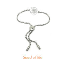 Hot sale stainless steel changeable charms bracelets adjust bead toggle bracelet