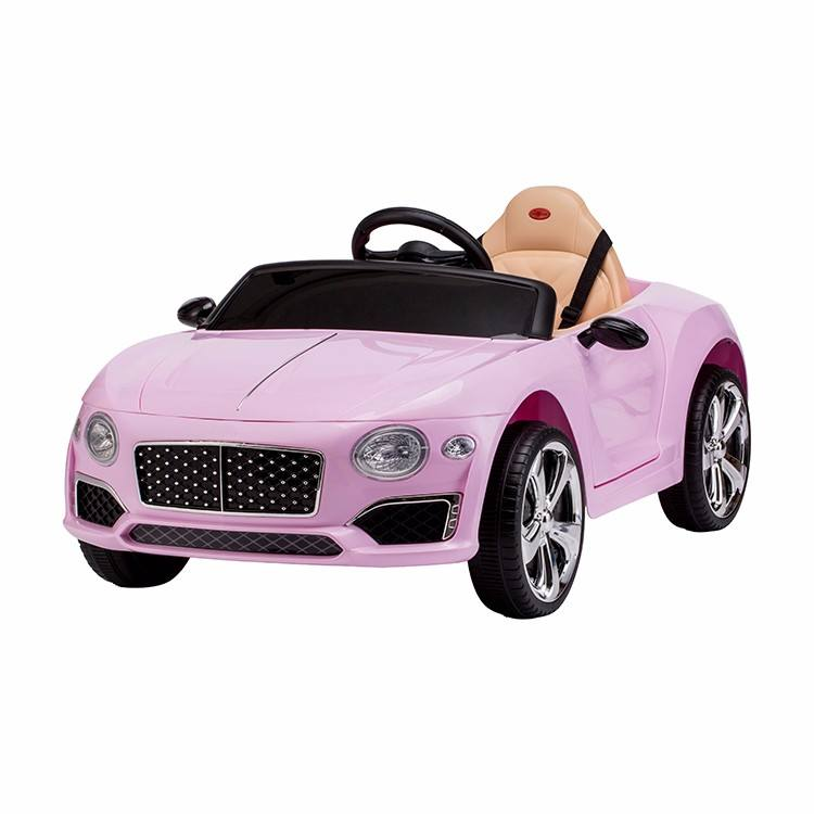 Pink color girls ride on electric cars with sunshade umbrella