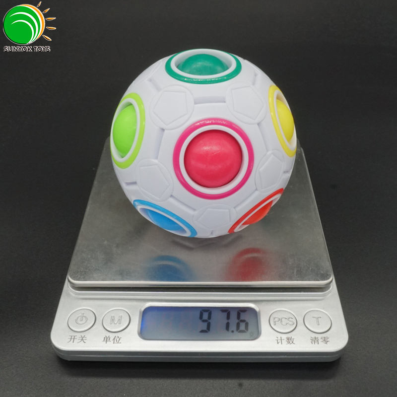 High Quality YJ Colourful Magic Rainbow Ball Cube Puzzle Game Education Toys