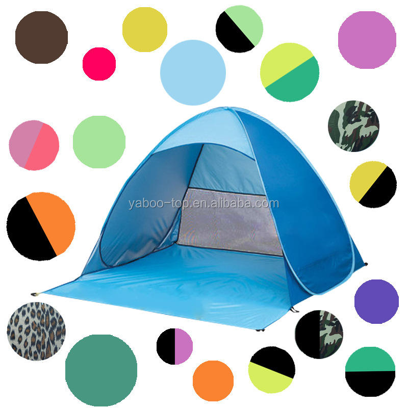 Wholesale 13 Colors Instant Quick Beach Tent Outdoor Automatic Foldable Sun Shelter Portable UV Protection Pop Up