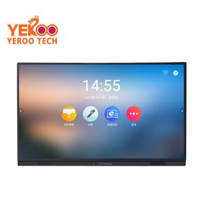 84 Inch Indoor 4K HD Touch Screen Lcd Display Papan Putih Resolusi Tinggi Interaktif LCD Digital Monitor